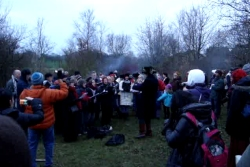 Singing at the 2013 Wassailing